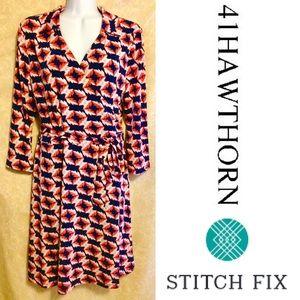 NWT 41 Hawthorn Stitch Fix Mieka Faux Wrap Dress